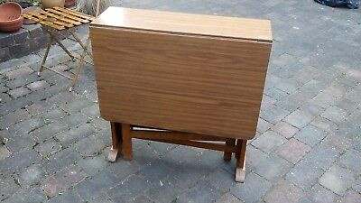 A Vintage Retro Mid Century 1960's/70's Compact Folding Drop Leaf Formica Table