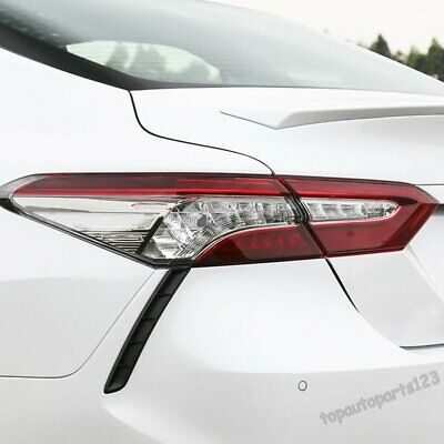 Fit Toyota Camry XV70 2017 2018 2019 Chrome Rear Taillights Lamp Eyelids Cover N