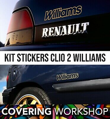 Kit stickers result Clio 2 Williams Renault Sport