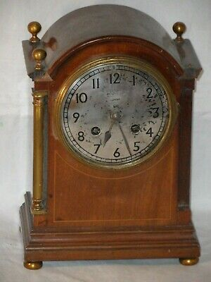 Antique AD Mougin Footed Chiming Mantel Clock. Spares Or Repair & Keys. As Seen