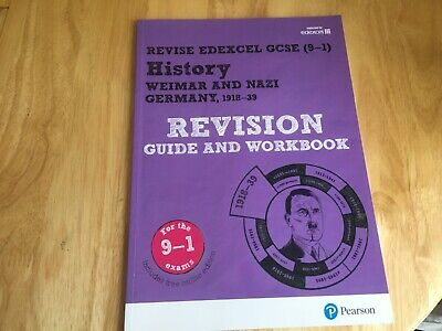 Revise Edexcel Gcse (9-1) History Weimar Nazi Germany 1918-39 Revision Workbook