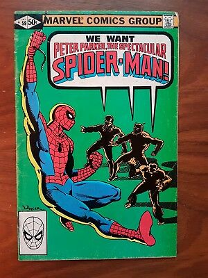 Marvel comics Peter Parker Spectacular Spiderman 59
