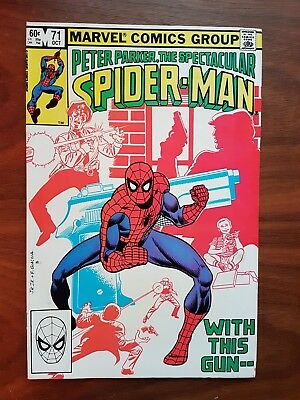 Marvel comics Peter Parker Spectacular Spiderman 71 nice condition