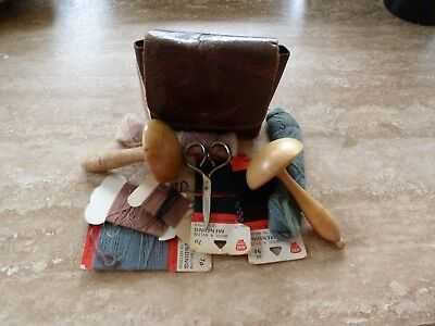 Vintage Treen Darning Mushrooms x 2 with Sewing Job Lot