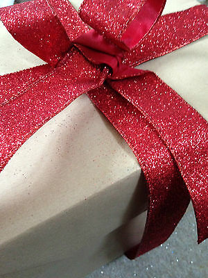 IT'S BEGINNING TO GLITTER RED like Christmas -  Luxury Wire Edged Ribbon **LOW**