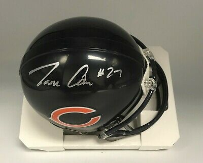 2ea4f0048 Tarik Cohen Signed Chicago Bears Mini Helmet Autograph Beckett BAS WITNESSED  COA