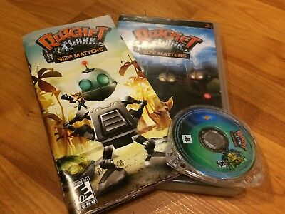 Ratchet & Clank: Size Matters (Sony PSP, 2007) Black Label COMPLETE FREE SHIP