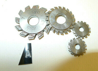 a) Assorted CLOCK WHEEL/PINION CUTTERS for engine/lathe restoration parts tools