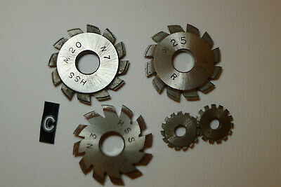 c) Assorted CLOCK WHEEL/PINION CUTTERS for engine/lathe restoration parts tools