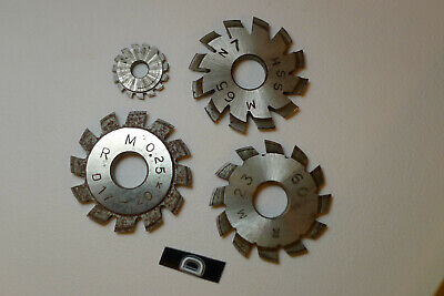 d) Assorted CLOCK WHEEL/PINION CUTTERS for engine/lathe restoration parts tools