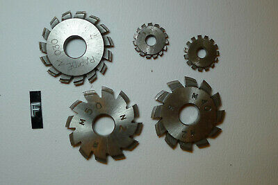 f) Assorted CLOCK WHEEL/PINION CUTTERS for engine/lathe restoration parts tools