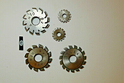 g) Assorted CLOCK WHEEL/PINION CUTTERS for engine/lathe restoration parts tools