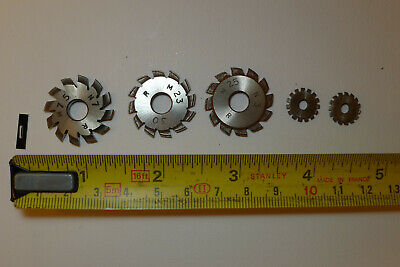 i) Assorted CLOCK WHEEL/PINION CUTTERS for engine/lathe restoration parts tools