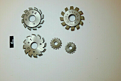 j) Assorted CLOCK WHEEL/PINION CUTTERS for engine/lathe restoration parts tools