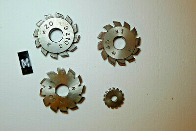 m) Assorted CLOCK WHEEL/PINION CUTTERS for engine/lathe restoration parts tools