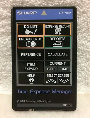 Sharp OZ-701A Time Expense Manager Sharp Organizer Wizard Used Program IC Card