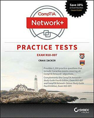 CompTIA Network+ Practice Tests: Exam N10-007 by Zacker, Craig, NEW Book, FREE &