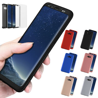 New ShockProof Hybrid 360 TPU Thin Case Cover For Samsung Galaxy S8 S8 Plus