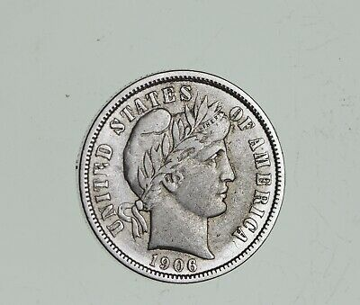 Higher Grade - 1911 Barber Liberty US Silver Dime - Great Detail in LIBERTY *797