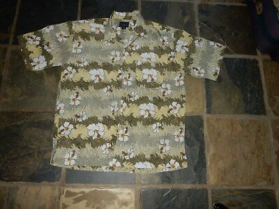 Retro Men's East Island Surf Vintage Hawaiian S/S Button Front Shirt Medium