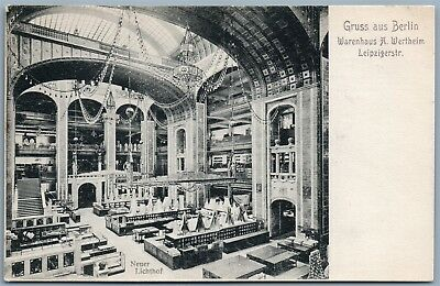 Berlin Germany Warenhaus A. Wertheim Leipzigstr. Antique Postcard