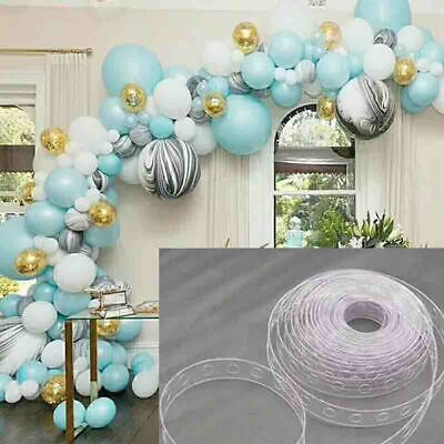 5M Balloon Decorate Strip Arch Garland Connect Chain DIY Tape Party Bar Decors