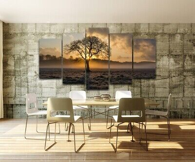Sunrise Tree Landscape Painting Abstract Canvas Print Wall Art Poster Home Decor