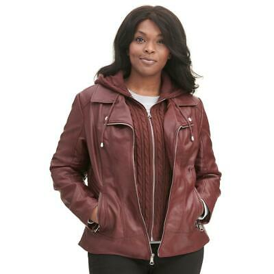 0d52e24e416c2 Wilsons Leather Womens Plus Size Marc New York Cycle Fauxleather Jacket W   Cable