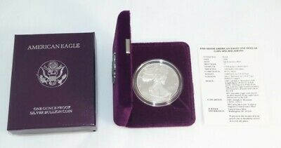 1990 American Silver Eagle 1 oz Proof Coin - OGP