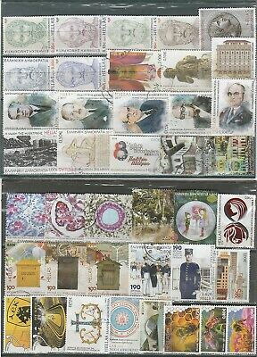 Greece 40 Different   Used  Euro  Stamps  2017//2018