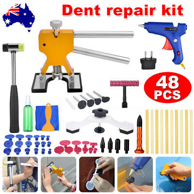 48 Paintless Dent Puller PDR Lifter Hail Removal Car Board Repair Glue Gun Tools