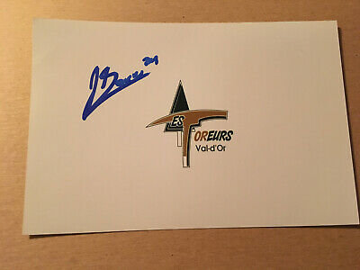 Jacob Gaucher SIGNED 4x6 photo VAL D'OR FOREURS