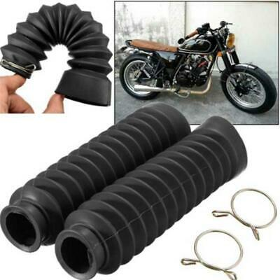 Universal Motorcycle Front Fork Rubber Gaiters Boots Dust Cover BB