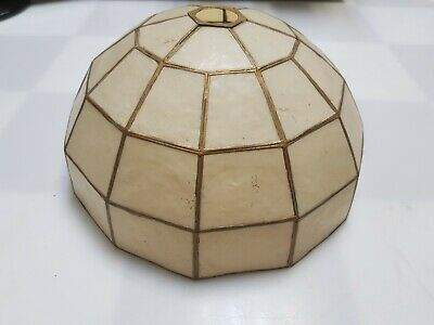 Vintage Old Old Ceiling Wafer Lead Light Fitting Or Lamp Light Shade