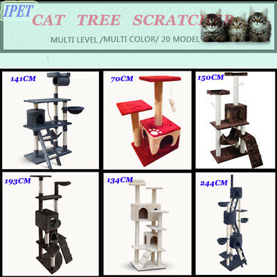 Pets Cats Tree Scratching Post Scratcher Pole Furniture Home Gym House Toy Condo