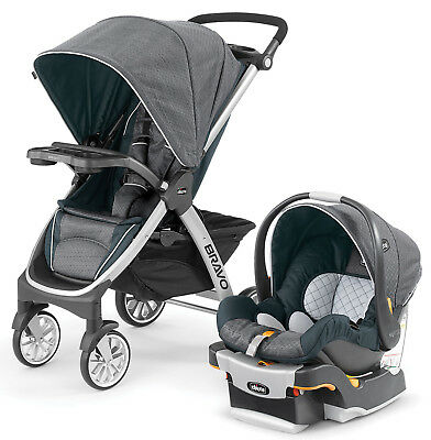 Chicco Bravo Trio 3-in-1 Travel System Stroller w/ Infant Car Seat Nottingham