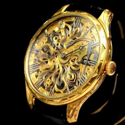 Vintage Mens Wristwatch LONGINES Gold Skeleton Mechanical Men's Wrist Watches