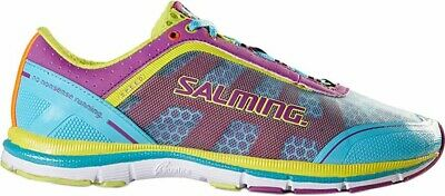 c4a1eb783497c Salming Speed 3 Womens Running Shoes Cushioned Ladies Trainers Blue Pink