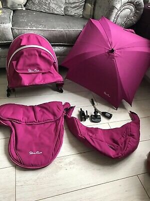 Silver Cross Surf Colour Pack RASPBERRY PINK Hood And Apron