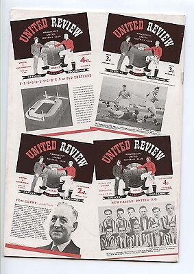 Manchester United 1946 - 1958 PROGRAMMES - POSTFREE to UK