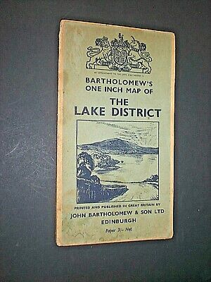 LAKE DISTRICT. BARTHOLOMEW'S 1 inch MAP. circa 1950. PAPER