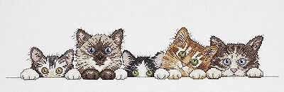 Cross Stitch Kit ~ Design Works Curious Kittens Cute Kitty Cat Row #DW2702