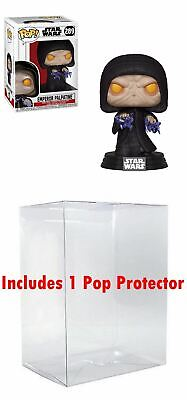 Funko POP! Star Wars: Emperor Palpatine + Bundled with Pop Box Protector Case