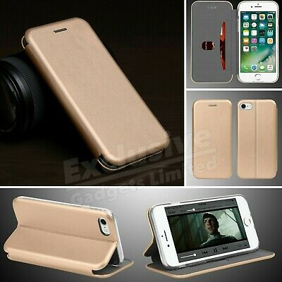 For iPhone 7 & 8 Case Luxury Real Genuine Leather Magntic Flip Slim Wallet Cover