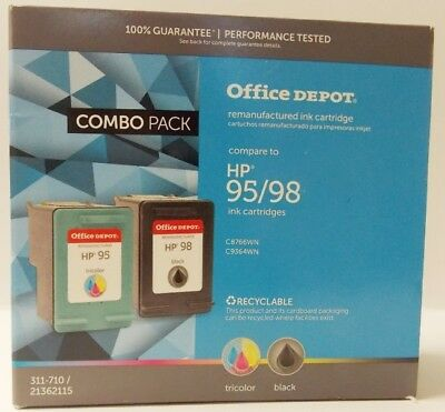 Refurbished Ink Cartridge Combo for HP 95 98 C9364WN C8766WN Black Color