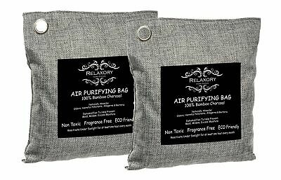2 Pack - 200g Relaxory Activated Nano Bamboo Charcoal Bag 100% Natural Odor A...