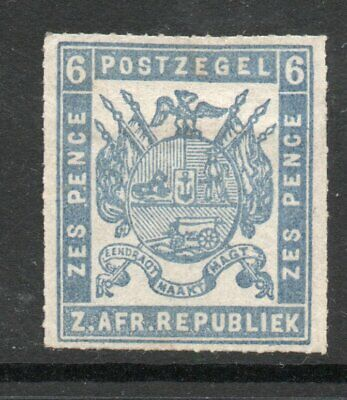 TRANSVAAL 1870s 6d  ROULETTED UNUSED