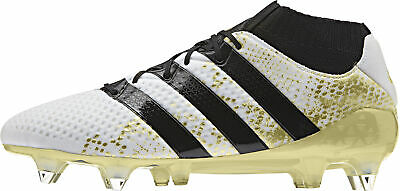 finest selection 1cf7f c5788 adidas Mens Football Boots Ace 16.1 Primeknit SG Soft Ground White Soccer  Shoes