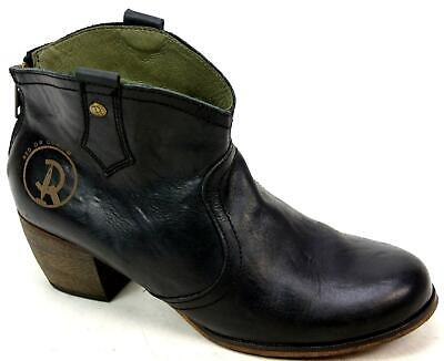c5ffd72f3c8 RED OR DEAD Mountain Black Leather Western Vintage Cowboy Ankle Boots Uk  Size 5