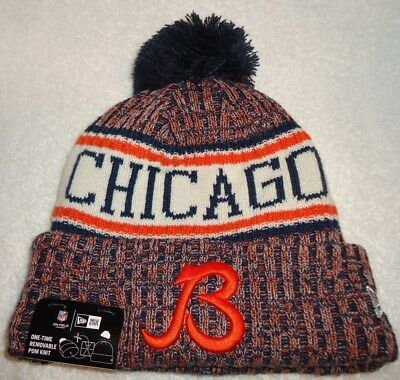 best loved fd8d5 58fce ... coupon for chicago bears 2018 new era on field sport knit pom hat new  with tags